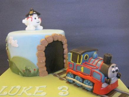 Thomas Tank Engine  Cake by Christine Jones