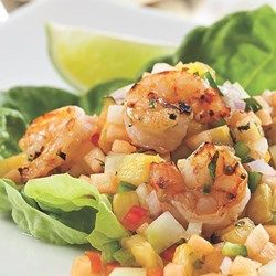 Grilled Shrimp with Melon & Pineapple Salsa - EatingWell.com