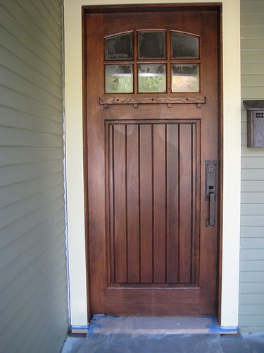 craftsman front doors for homes | outside of the house finally painted it was time to replace front door ...