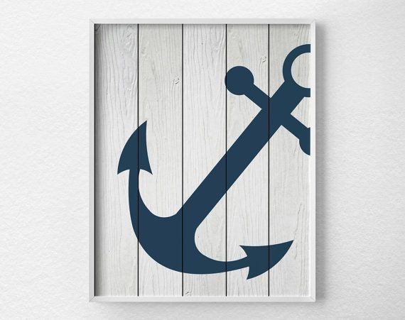 Anchor Decor Nautical Bathroom Rustic by LotusLeafCreations