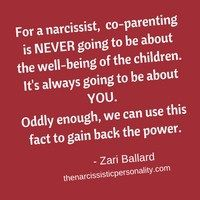Co-parent with a Narcissist..Read Article