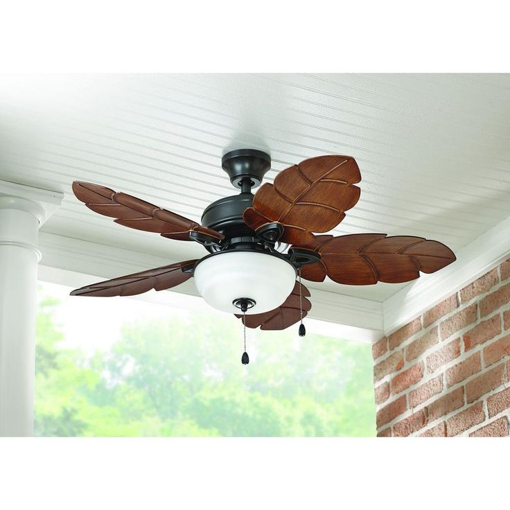 Home Decorators Collection Palm Cove 44 In Outdoor Natural Iron Ceiling Fan Ceiling Fan Cove