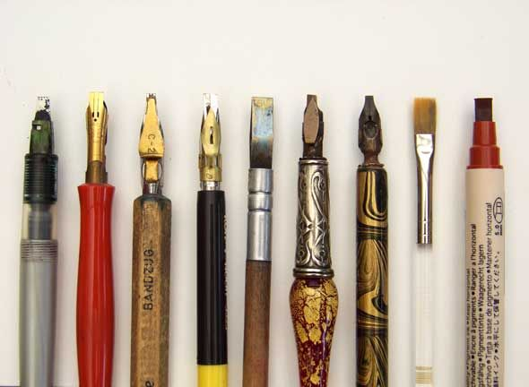Calligraphy Pens Tools Of The Trade Pinterest