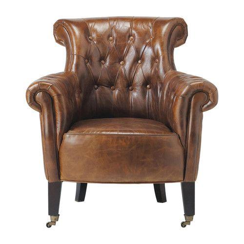 Ber ideen zu fauteuil cuir auf pinterest for Ohrensessel antiklederoptik