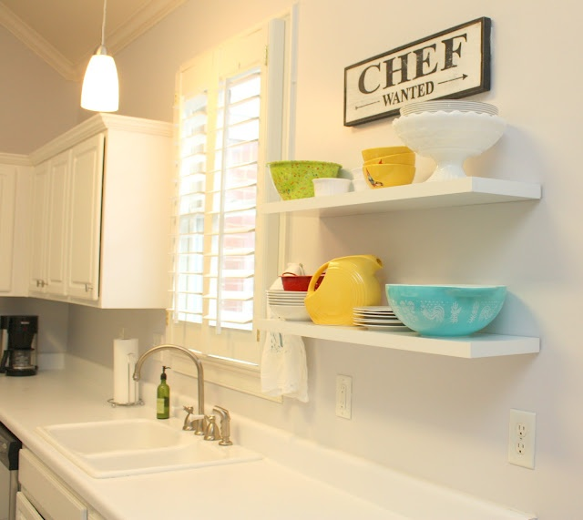 Love these shelves in the kitchen.Kitchens Progress, Kitchens Ideas, Kitchens Cabinets