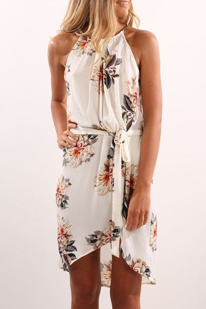 Another Day Dress White Floral