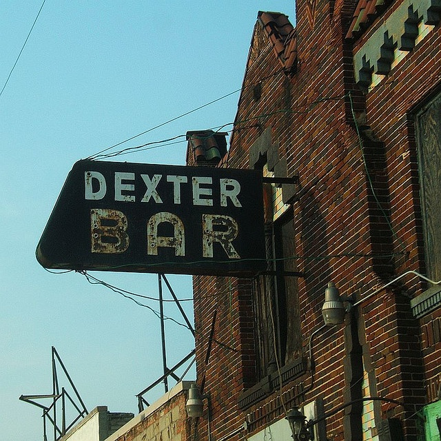 Abandoned Dexter Bar Sign in Downtown Detroit    A weathered Sign on an abandoned bar on Dexter in Downtown Detroit. There is a full picture of this building in my Detroit Ruins set.