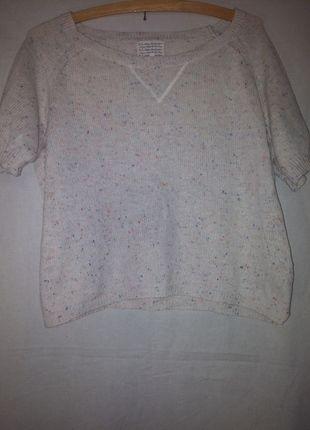 Kup mój przedmiot na #vintedpl http://www.vinted.pl/damska-odziez/swetry-z-dekoltem/12304013-bialy-sweterek-z-kolorowymi-nitkami