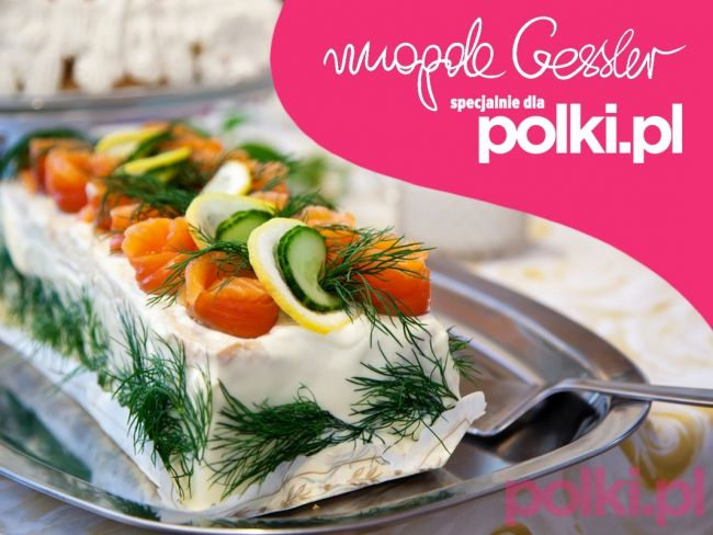 Przepisy Magdy Gessler - szwedzki tort kanapkowy z łososiem -Przepis