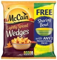 McCain - Wherever you watch the World Cup what better way to enjoy your viewing experience by having snacks on hand.  McCain are offering shoppers the chance to get a free sharing bowl after buying any 2 of their promotional packs. With the Football World Cup taking place in Brazil this year, the promotion, which is part of the McCain Summer of Sharing campaign, will capitalise on increased consumer interest in all things Brazilian.