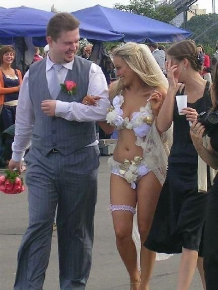 crazy wedding dress
