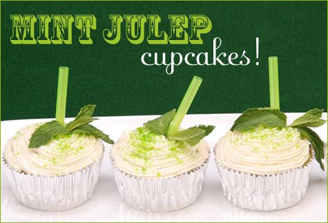 Mint Julep Cupcakes Recipe  http://blog.hwtm.com/2009/04/mint-julep-cupcakes-recipe/