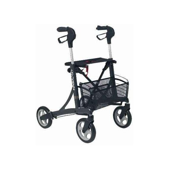 Andador de 4 ruedas DOLOMITE JAZZ de INVACARE. Nuevo modelo con plegado a tijera. Muy ligero y ergonómico.