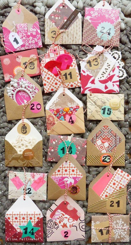 Eline Pellinkhof: Crea St. - advent calendar from envelopes