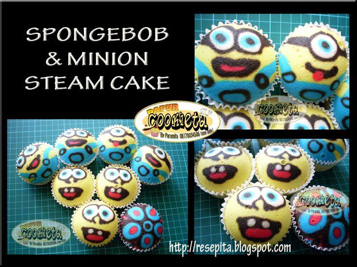 Spongebob and Minion Fancy Steam Cake