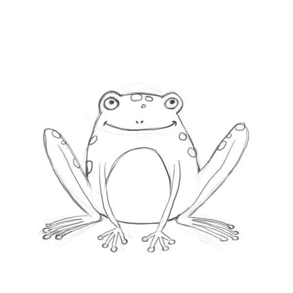 Line Drawing Frog : Frog line drawing imgkid the image kid has it