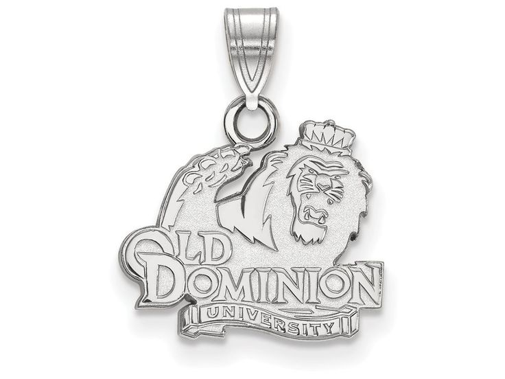 LogoArt Sterling Silver Old Dominion University Small Pendant Necklace - Chain Included