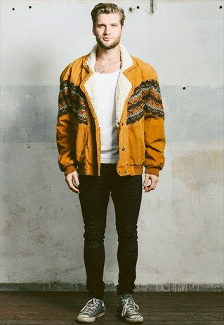 Vintage 80s Aztec Suede Sherpa Jacket, 48 £ available at ASOS.MP/NORTHERNGRIP