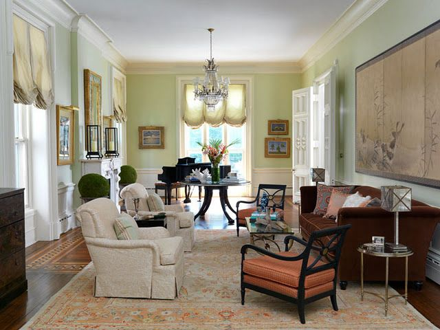 12 Stunning Interiors How To Decorate With Green Rugs And Accents Living Room