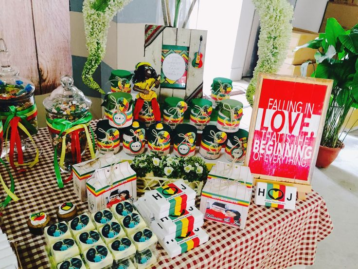 Rasta party #rastafari  #rusticrasta #dessertbar #icandybuffetsocietybyrozie #bobmarley #rastaparty