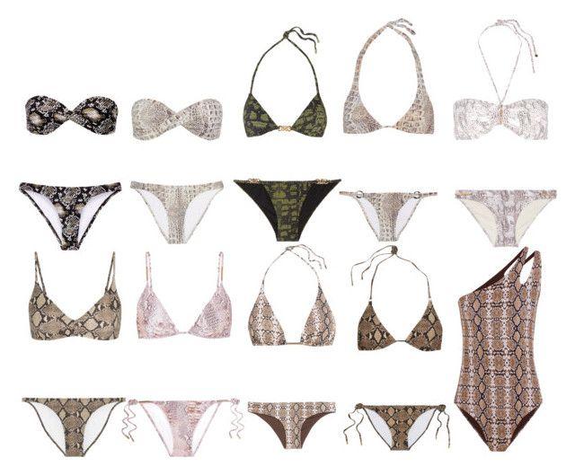 """Wardrobe Essentials: Snakeskin/Crocodile Swimwear"" by milanibelvedere ❤ liked on Polyvore featuring Melissa Odabash, Calvin Klein and Heidi Klum"