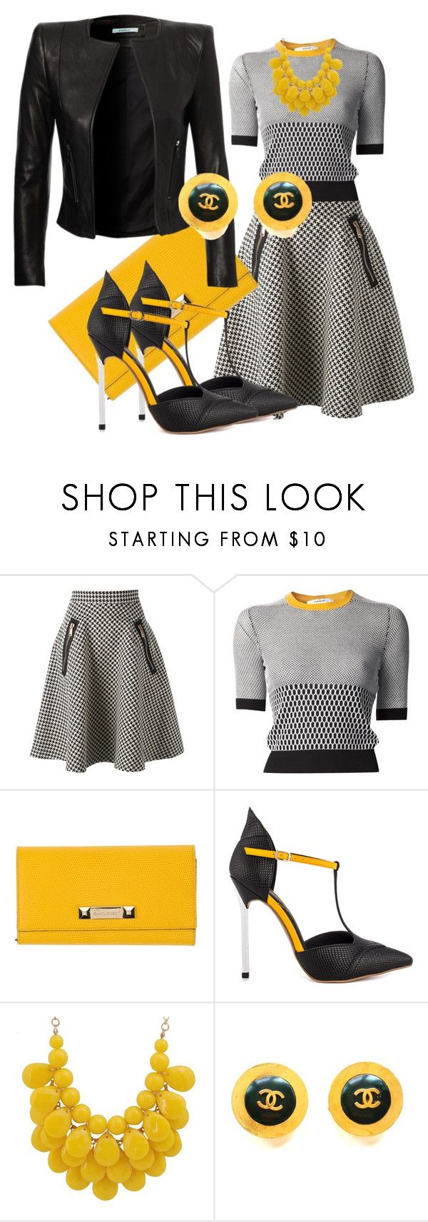 """""""Sin título #146"""" by doina-petrov ❤ liked on Polyvore featuring Coast + Weber + Ahaus, Carven, Dsquared2, Privileged and Chanel"""