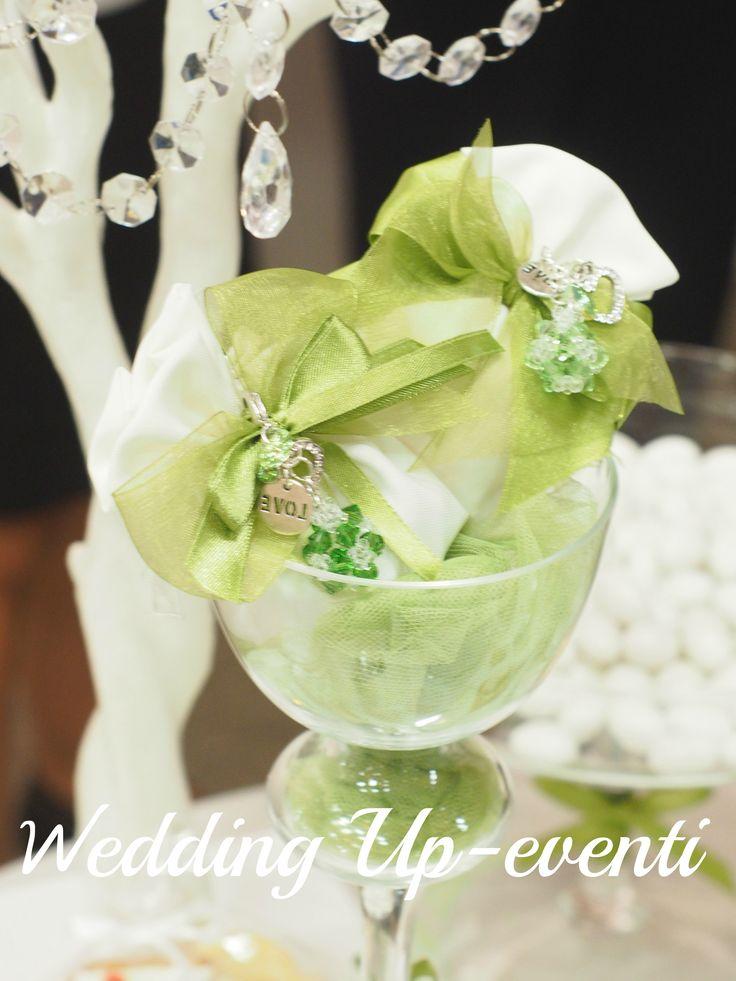 Sacchettini con Charms in Swaroski..Wedding Up-eventi Creation