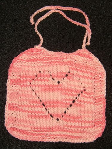 Free Knitting Patterns For Baby Bibs : Baby Love Bib (Free Pattern) Knit?Baby?Bibs Pinterest Free pattern, Bab...