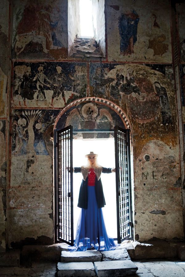 Incredible detailing in one of the churches in Ani from Elle Turkey.