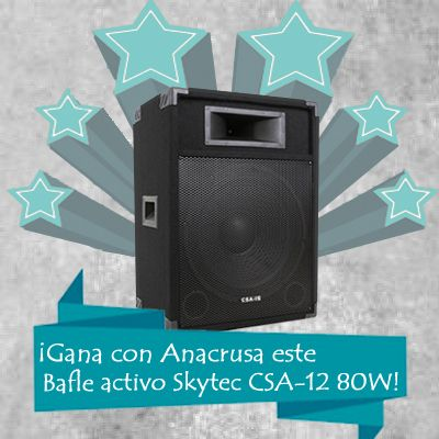 ¡Nuevo sorteo! ¡Participa y podrás ganar este fantástico Bafle activo Skytec CSA-12 de 80W!  http://www.totombola.com/r/13416/sorteo-de-gana-con-anacrusa-un-bafle-activo-skytec-csa-12/otros?so=1