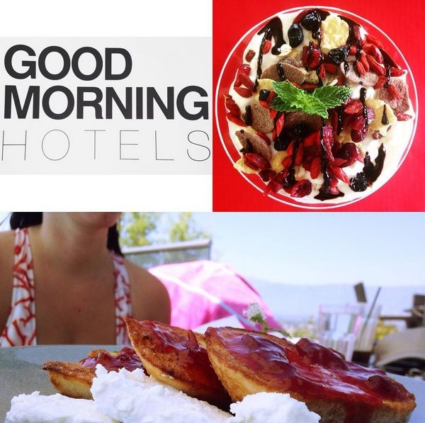 Earlier this morning at #AnantiCityResort ! French toast with feta cheese and homemade sour cherry jam and Greek yoghurt with super foods, cereal and carob honey!  http://www.tresorhotels.com/en/hotels/25/ananti-city-resort https://instagram.com/tresorhotels/