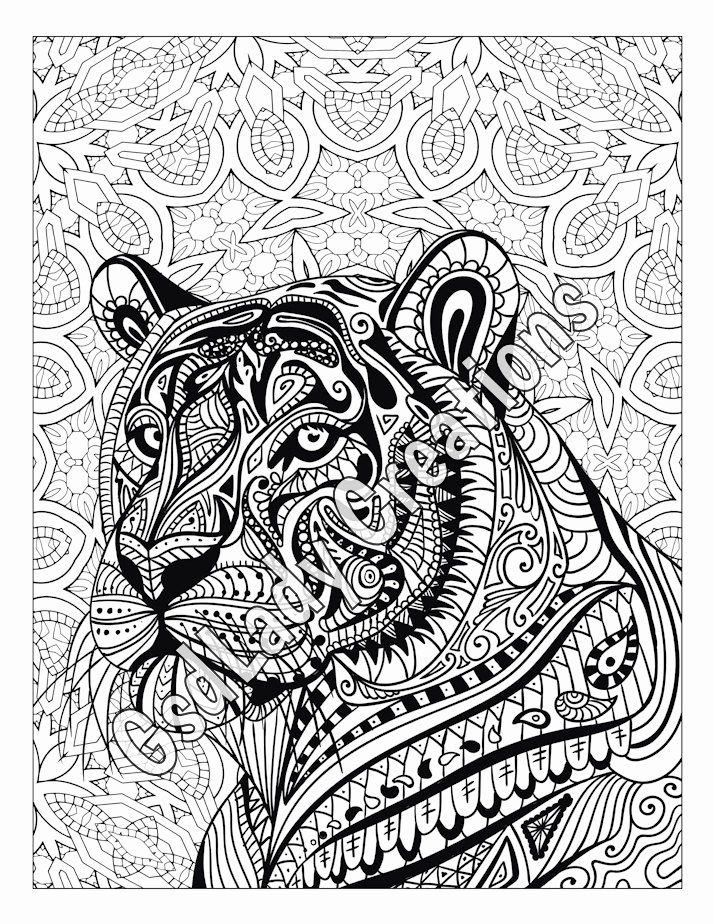 Animal Pattern Coloring Pages Luxury Zen Tiger Animal Art Page To Color Zentangle Animal Mandala Coloring Pages Animal Coloring Pages Detailed Coloring Pages