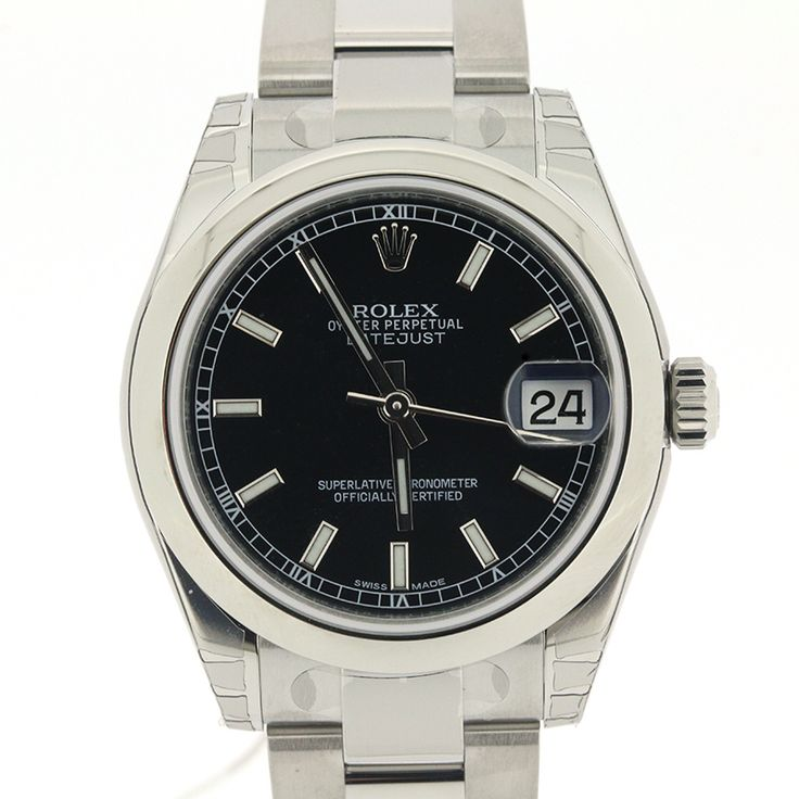 "ROLEX DATEJUST 178240 MIDSIZE STAINLESS STEEL OYSTER BLACK INDEX DIAL 31MM[Price]JPY 528,000 *Approximately US $ 4,750.94[Condition]""EXCELLENT pre-owned condition"""