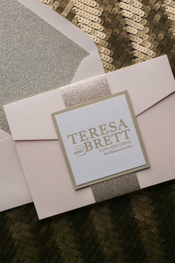 addressing wedding invitations married woman doctor%0A Fabulous Blush and Gold Glitter Modern Wedding Invitations  ALYSSA Glitter  Pocket Folder Collection by Just