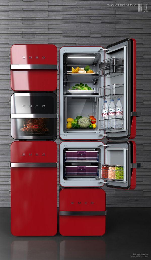 Un Smeg compartimenté, c'est de plus en plus évoqué pour les réfrigérateurs