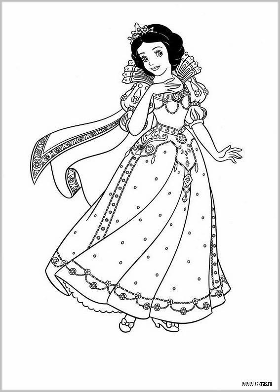 Раскраски для девочек принцессы Диснея 2016 | Принцесса ...