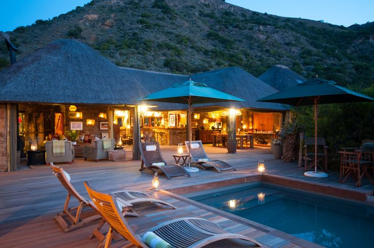 The main lodge by night..