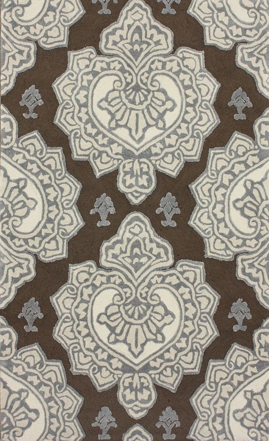 Rugs USA Quinta Hillcrest Indoor Outdoor Cocoa Rug, 100% Polyester, Hand Tufted, transitional, home decor, sale, discount, brown, tan, ivory.