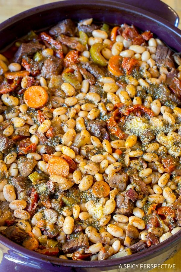 Easy Tuscan-Style Beef Cassoulet Recipe
