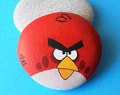 Angry Bird Hand Painted Stone !