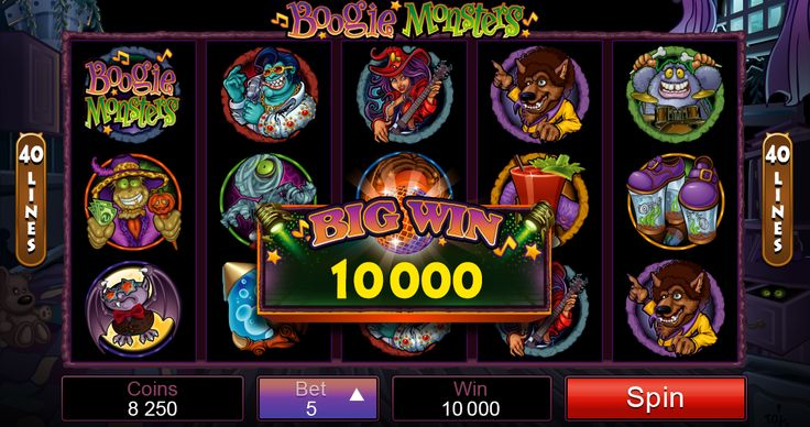 Halloween/Comic Scary-themed Boogie Monster Online Slot comes with great features like Free Spin Trigger Symbol, Bonus Trigger Symbol, Scatter Symbol and much more!