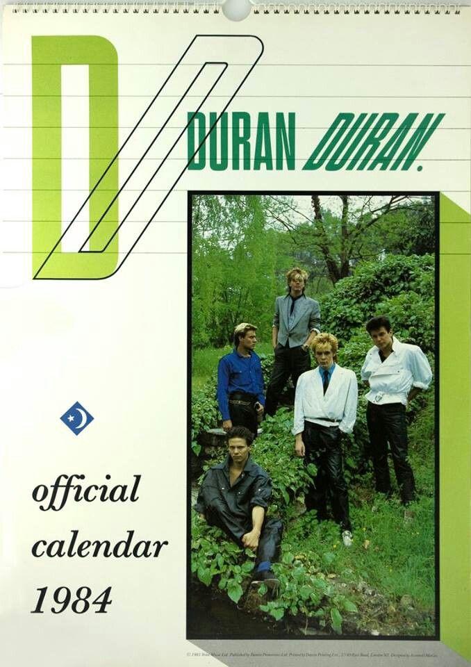 Calendar 1984 | Duran Duran | Pinterest