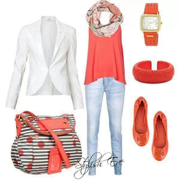 #coral and #denim #cute