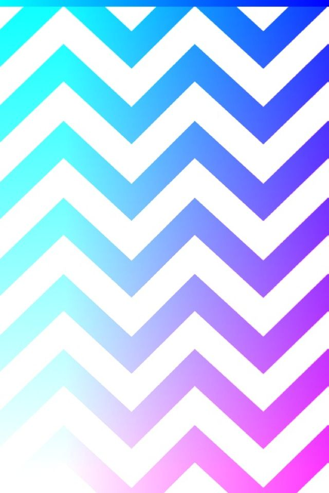 Light blue, dark blue, purple, and kinda a little pink chevron wallpaper pattern