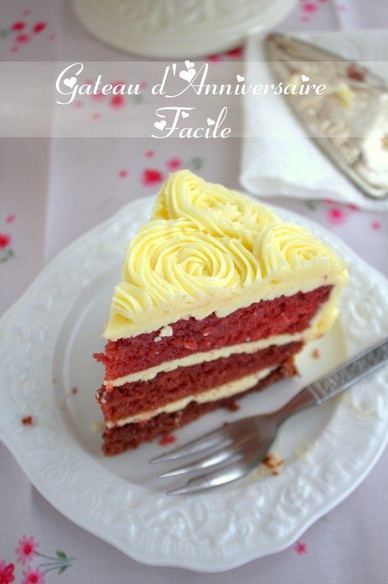 gateau d'anniversaire facile حلويات عيد ميلاد سهلة bonjour tout le monde, Pour mon anniversaire cette fois, je voulais réaliser un gâteau d'anniversaire très facile, et très simple, car j'étais trop prise. L'idée de ce beau gâteau layer cake red velvet a la creme au beurre m'est venue lors de ma balade sur Pinterest, un site ...