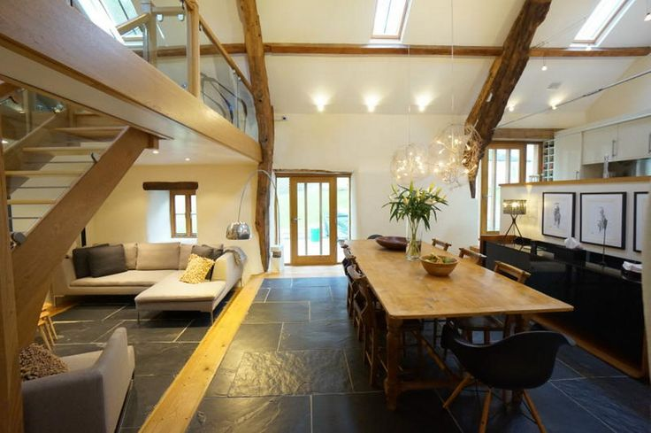 The living room at The Barn in Capel Garmon, which is on the market for £465,000