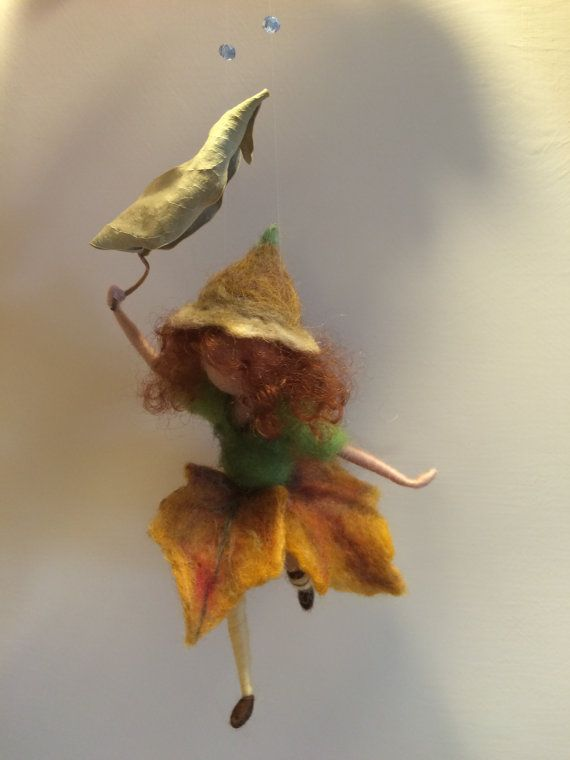 Needle felted Elf Waldorf inspired Wool fairy Dwarf by DreamsLab3