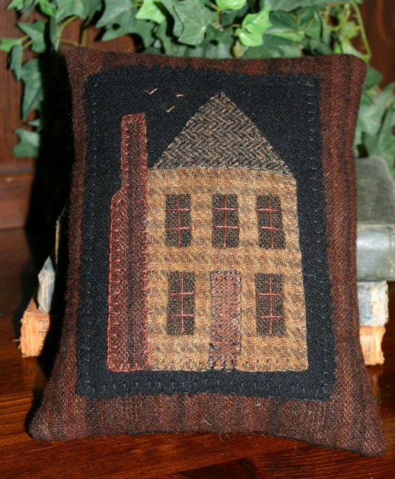 1283 best Wool images on Pinterest   Wool applique patterns, Felted Woolen Spool Designs Box Houses Html on