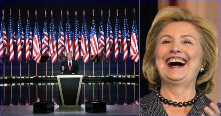 Remember Those Flags At The RNC? Well, Here's What Hillary Did To Them