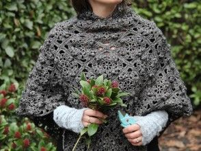Ladies Poncho - free pattern & tutorial. don't know if i'll get around to making it but looks cute!